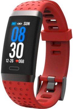 swisstone fitness-horloge sw 380 hr rood