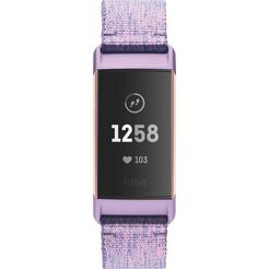 fitbit smartwatch charge 3 mit nfc paars