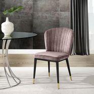 leonique eetkamerstoel dinan set van 2 met zacht verdikte zitting en rugleuning, modern design (set) roze