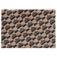 elle decor mat »monogram«, elle decor, rechthoekig, hoogte 7 mm, machinaal getuft zwart