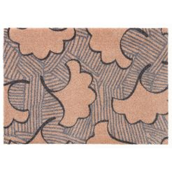elle decor mat »leaf«, elle decor, rechthoekig, hoogte 7 mm, machinaal getuft bruin