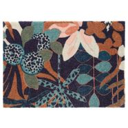 elle decor mat »fleurette«, elle decor, rechthoekig, hoogte 7 mm, machinaal getuft blauw