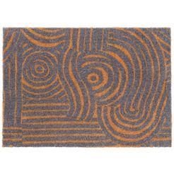 elle decor mat »fantastique«, elle decor, rechthoekig, hoogte 7 mm, machinaal getuft grijs