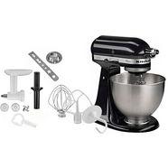kitchenaid keukenmachine classic 5k45ss eob, 250 w, 4,28l-kom, incl. accessoires t.w.v. ca. € 112,- zwart
