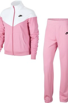 nike sportswear trainingspak »w nsw trk suit pk« (2-delige set) roze