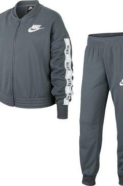 nike sportswear trainingspak »girls nike sportswear tracksuit tricot« (set, 2-delig) grijs