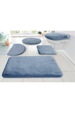 my home badmat »rabbit«, my home, hoehe 30 mm, strapazierfaehig blauw
