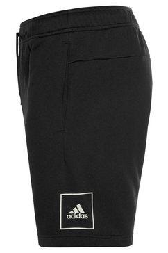 adidas performance sweatshort »3 stripes tape short« zwart