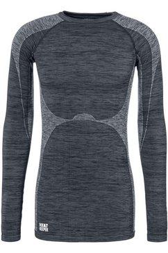 heat keeper functioneel shirt thermo shirt met lange mouwen zwart