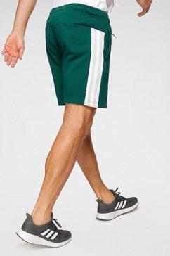 adidas performance sweatshort »3 stripes tape short« groen