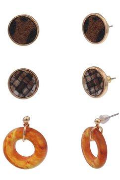 leslii oorstekerset »safari set, 230118375« (set, 6 tlg.) bruin