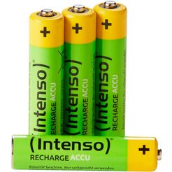 intenso »rechargeable eco aaa hr03 850mah« accu groen