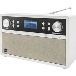 dual radio »ir 105s schneewittchen« radio (digitalradio (dab+),internetradio,ukw met rds, 6 watt) wit