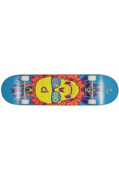 playlife skateboard skullhead zwart