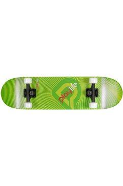 playlife skateboard »illusion green« zwart