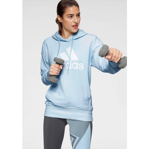 adidas Performance sportsweater lichtblauw-wit
