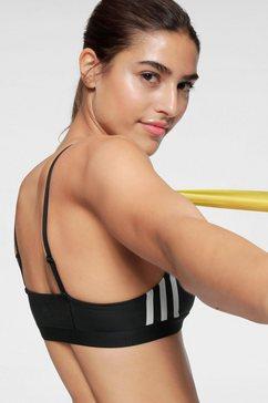 adidas performance sport-bh »am 3 stripes bra« zwart