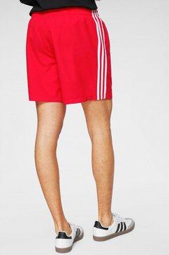 adidas originals short »3 stripe swims« rood