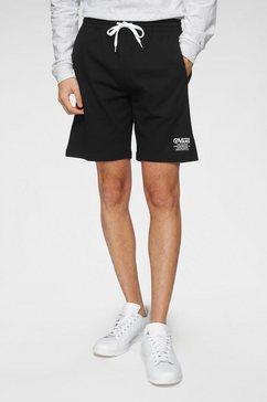 vans sweatshort »distort type fleece short« zwart