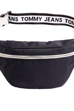 tommy jeans heuptasje »tjm logo tape bumbag nylon« zwart