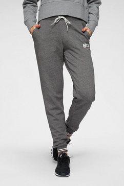 nike sportswear joggingbroek »w nsw jggr flc vrsty« grijs