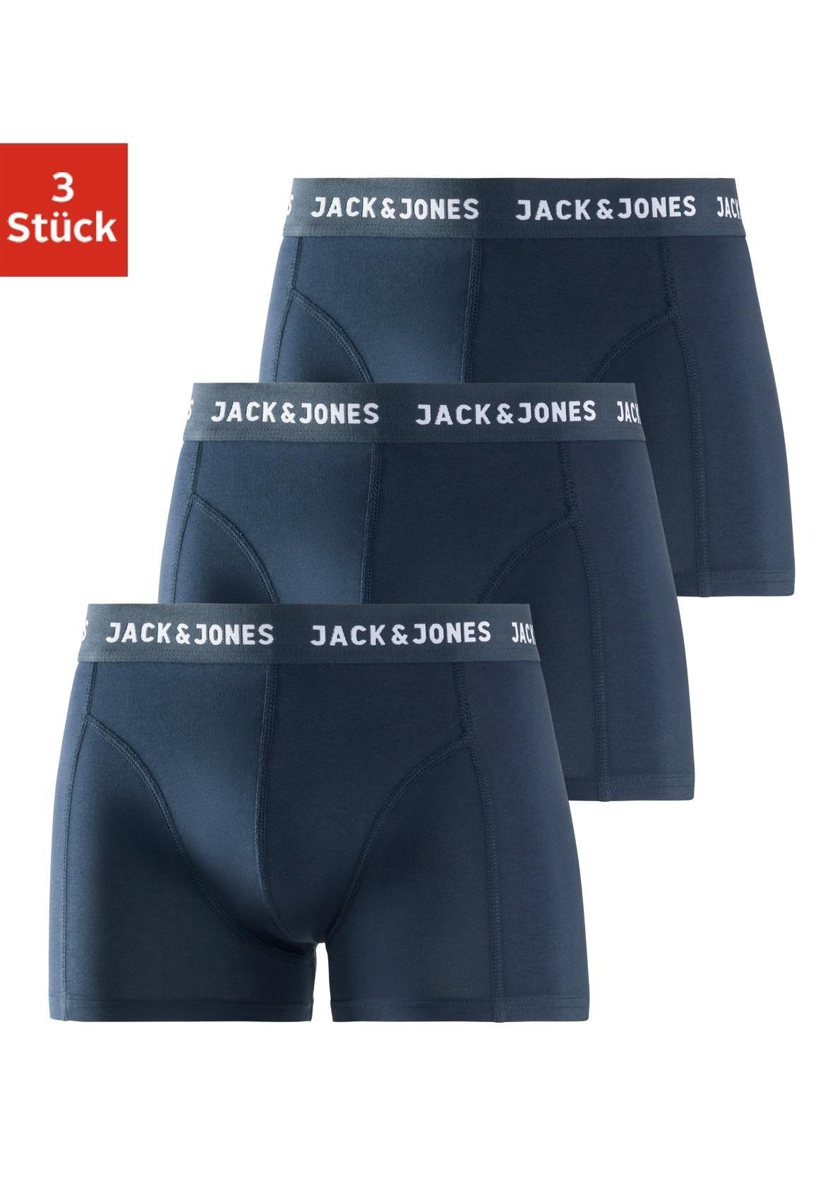 Jack & Jones boxershort met logo-weefband (3 stuks) voordelig en veilig online kopen