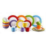 retsch arzberg combi-servies colour band mix  match-ontwerp (set, 24 delig) multicolor