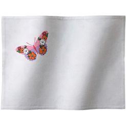 ddddd set placemats butterfly 35x45 cm (set, 6 stuks) wit