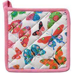ddddd pannenlap butterfly 20x20 cm (6-delig) wit