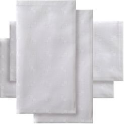 ddddd stoffen servet vierkant damast, 50x50 cm, met kleine stijlvolle vierkanten (set, 4 stuks) wit