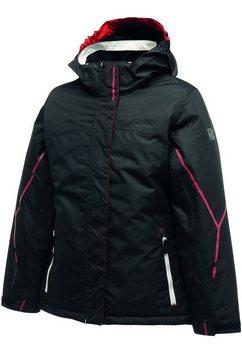 dare2b outdoorjack meisje jas parody met capuchon, waterbestendig zwart