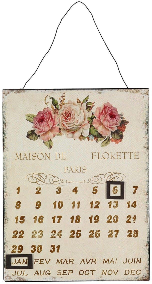 Ambiente Haus metalen artprint kalender - rozen 25x33cm (1 stuk) bij OTTO online kopen
