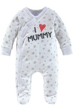 klitzeklein pyjama »i love mummy - i love daddy, druck« (packung, 2 tlg.) wit