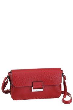 gerry weber bags schoudertas talk different ll shoulderbag shf met zilverkleurige details rood