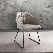 places of style stoel tampa in rotan-metaal combi (set) beige