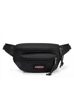 eastpak heuptasje doggy bag, black bevat gerecycled materiaal (global recycled standard) zwart