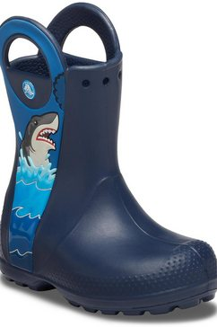 crocs rubberlaarzen »shark rain boot« blauw