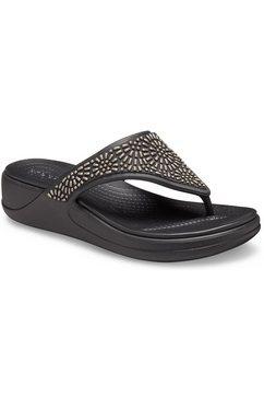 crocs teenslippers »monterey diamante« zwart