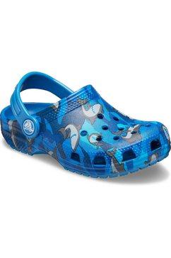 crocs clogs classic shark clog met beweegbaar hielriempje blauw