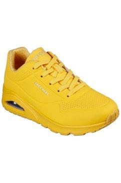 skechers sneakers met sleehak »uno - stand on air« geel