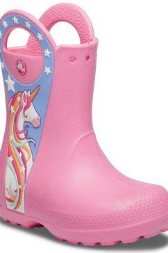 crocs rubberlaarzen »unicorn rain boot« roze