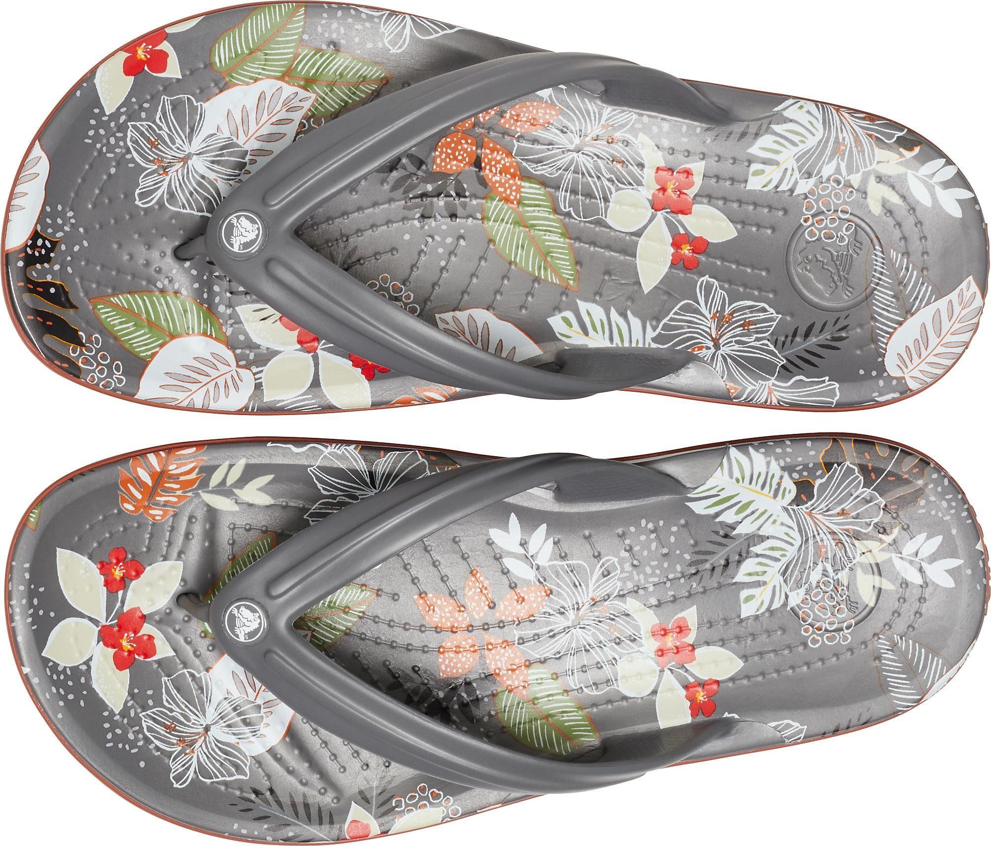 Crocs Teenslippers Crocband Botanical Print Flip Vind Je Bij - Geweldige Prijs