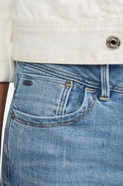 g-star raw skinny fit jeans »lynn mid super skinny« blauw