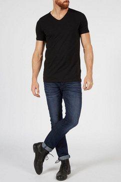 petrol industries t-shirt v-hals (set van 2) zwart