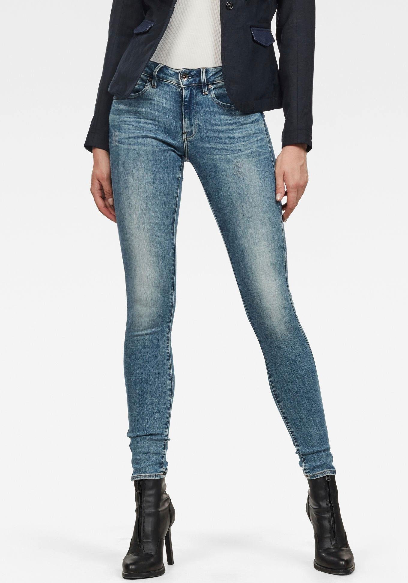 G-Star RAW skinny fit jeans Midge Zip Mid Skinny met ritszakken achter bij OTTO online kopen
