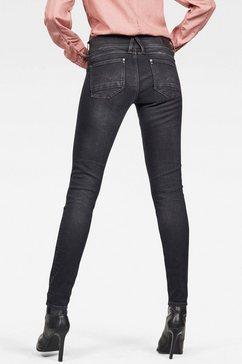 g-star raw skinny jeans »lynn mid skinny« grijs