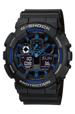 casio g-shock chronograaf »ga-100-1a2er« zwart