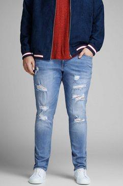 jack  jones skinny fit jeans »liam« blauw