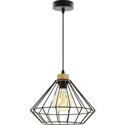 britop lighting hanglamp »raquelle pendelleuchte 1xe27 max. 15w«, zwart