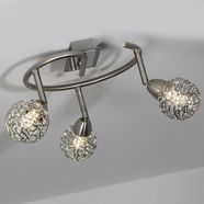 britop lighting plafondlamp »easyfix deckenleuchte incl. 3xled 3,5w 320lm 3000k«, zilver
